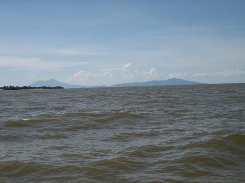 El lago Cocibolca en Nicaragua